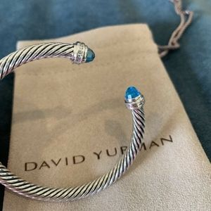 David Yurman Bracelet Blue Topaz Diamonds 5mm